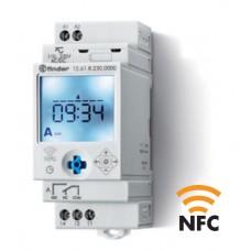 126100240000, Реле времени цифровое недельное; монтаж на рейку 35мм; 1СO 16A; питание 24B AC/DC; NFC; ширина 35мм; степень защиты IP20; упаковка 5 шт.