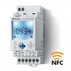 126282300000, Реле времени цифровое недельное; монтаж на рейку 35мм; 2СO 16A; питание 110…230B AC/DC; NFC; ширина 35мм; степень защиты IP20; упаковка 5 шт.