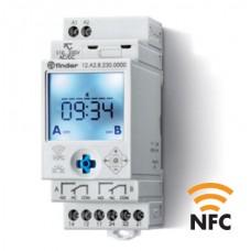 12A200240000, Реле времени цифровое недельное; монтаж на рейку 35мм; 2СO 16A; питание 24B AC/DC; NFC; ширина 35мм; степень защиты IP20; упаковка 5 шт.