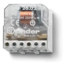 260682300000, Шаговое электромеханическое реле; 2NO 10А, 3 состояния; контакты AgNi; питание 230В АC; монтаж в коробке; степень защиты IP20; упаковка 10 шт.