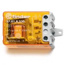 270182300000, Шаговое электромеханическое реле; 1NO 10А, 2 состояния; контакты AgNi; питание 230В АC; монтаж в коробке; фланец; степень защиты IP20; упаковка 10 шт.