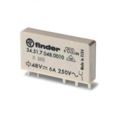 345170120010, Ультратонкое электромеханическое реле; монтаж на печатную плату; 1CO 6A; контакты AgNi; катушка 12В DC (чувствит.); степень защиты RTII; упаковка 20 шт.