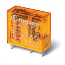 405182305000, Миниатюрное универсальное электромеханическое реле; монтаж на печатную плату или в розетку; выводы с шагом 5мм; 1СO 10A; контакты AgNi+Au; катушка 230В AC; степень защиты RTII; упаковка 50 шт.