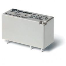 413180240000, Низкопрофильное миниатюрное электромеханическое реле; монтаж на печатную плату; выводы с шагом 3.5мм; 1CO 12A; Контакты AgNi; катушка 24В AС; степень защиты RTII; упаковка 20 шт.