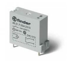Низкопрофильное миниатюрное электромеханическое реле; монтаж на печатную плату; выводы с шагом 3.5мм; 1NO 16A; контакты AgNi; катушка 12В DС (чувствит.); степень защиты RTII; упаковка 50 шт.