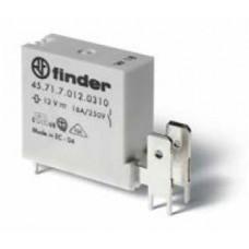 Низкопрофильное миниатюрное электромеханическое реле; монтаж на печатную плату; выводы с шагом 5мм + Faston 250(6.3x0.8мм); 1NO 16A; контакты AgCdO; катушка 6В DС (чувствит.); степень защиты RTII; упаковка 50 шт.