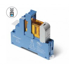 Интерфейсный модуль, электромеханическое реле; 1CO 10A; контакты AgNi; питание 12В DC (чувствит.); категория защиты IP20; винтовые клеммы; металлическая клипса; LED + диод; упаковка 10 шт.