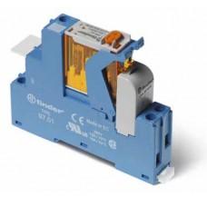 4C0180120060SPA, Интерфейсный модуль, электромеханическое реле; 1CO 16A; контакты AgNi; питание 12В AC; категория защиты IP20; винтовые клеммы; пластиковая клипса; LED + варистор; кнопка тест + мех.индикатор; упаковка 10 шт.