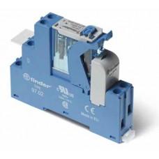 4C0280120060SPA, Интерфейсный модуль, электромеханическое реле; 2CO 8A; контакты AgNi; питание 12В AC; категория защиты IP20; винтовые клеммы; пластиковая клипса; LED + варистор; кнопка тест + мех.индикатор; упаковка 10 шт.