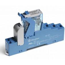 4C5190240050SPA, Интерфейсный модуль, электромеханическое реле; 1CO 16A; контакты AgNi; питание 24В DC; категория защиты IP20; безвинтовые клеммы (пружинный зажим); пластиковая клипса; LED + диод; кнопка тест + мех.индикатор; упаковка 10 шт.