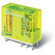 Электромеханическое реле безопасности (реле с принудительным управлением контактами); монтаж на печатную плату или в розетку; выводы с шагом 5мм; 2CO 8A; контакты AgNi; катушка 5В DC; степень защиты RTII; упаковка 50 шт.