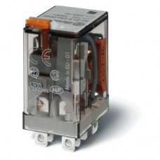 563281100040, Миниатюрное силовое электромеханическое реле; монтаж в розетку или наконечники Faston (4.8х0.5мм); 2CO 12A; контакты AgNi; катушка 110В АC; степень защиты RTI; опции: кнопка тест + мех.индикатор; упаковка 10 шт.