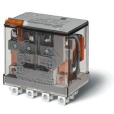 563482304010, Миниатюрное силовое электромеханическое реле; монтаж в розетку или наконечники Faston (4.8х0.5мм); 4CO 12A; контакты AgSnO2; катушка 230В АC; степень защиты RTI; опции: кнопка тест; упаковка 10 шт.