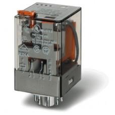 601281200040, Универсальное электромеханическое реле; монтаж в розетку 8-штырьковый разъем; 2CO 10A; контакты AgNi; катушка 120В AC; степень защиты RTI; опции: кнопка тест + мех.индикатор; упаковка 10 шт.