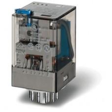 601390240070, Универсальное электромеханическое реле; монтаж в розетку 11-штырьковый разъем; 3CO 10A; контакты AgNi; катушка 24В DC; степень защиты RTI; опции: кнопка тест + диод + LED; упаковка 10 шт.