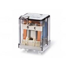 623290120040, Силовое электромеханическое реле; монтаж в розетку или наконечники Faston 187 (4.8х0.5мм); 2CO 16A; контакты AgCdO; катушка 12В DC; степень защиты RTI; опции: кнопка тест + мех.индикатор; упаковка 10 шт.