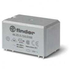 662282301300, Силовое электромеханическое реле; монтаж на печатную плату, раздвоенные выводы; 2NO 30A; контакты AgNi; катушка 230В AC; степень защиты RTII; УХЛ4; опции: нет; упаковка 10 шт.