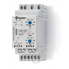 704284002032, Контрольное реле для 3-фазных сетей; пониженное/повышенное напряжение, обрыв/чередование/асимметрия фаз, контроль нейтрали, настраиваемые диапазоны; выход 2CO 8А; ширина 35мм; степень защиты IP20; упаковка 5 шт.