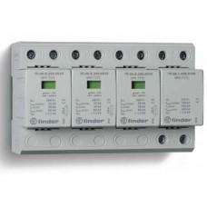 Устройство защиты от импульсных перенапряжений УЗИП тип 1+2 (3 варистор/искровый разрядник + 1 искровый разрядник); модульный, ширина 144мм; степень защиты IP20; упаковка 1 шт.