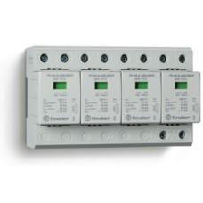 Устройство защиты от импульсных перенапряжений УЗИП тип 1+2 (4 варистор/искровый разрядник); модульный, ширина 144мм; степень защиты IP20; упаковка 1 шт.