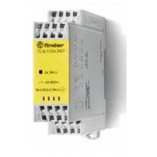 7S1690120420, Модульное электромеханическое реле безопасности (реле с принудительным управлением контактами); 4NO+2NC 6A; контакты AgNi; катушка 12В DC; ширина 22.5мм; степень защиты IP54; упаковка 5 шт.