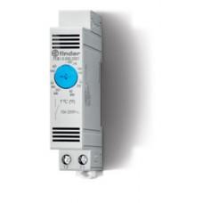 7T8100002303PAS, Щитовой термостат для включения охлаждения; диапазон температур 0…+60°C; 1NO 10A; модульный, ширина 17.5мм; степень защиты IP20; упаковка 1шт.; упаковка 1 шт.