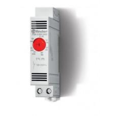 7T8100002403, Щитовой термостат для включения обогрева; диапазон температур 0…+60°C; 1NС 10A; модульный, ширина 17.5мм; степень защиты IP20; упаковка 5 шт.