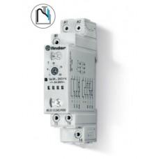 Модульный таймер мультифункциональный (AI, DI, SW, BE, CE, DE); питание 24…240В АС/DC; 1CO 8A; ширина 17.5мм; регулировка времени 0.1с…24ч; безвинтовые клеммы push-in; степень защиты IP20; упаковка 1шт.
