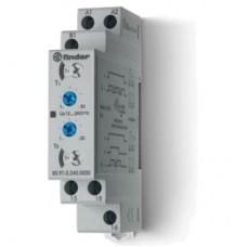 Модульный таймер 2-функциональный (LI, LE); питание 24…240В АС/DC; 1CO 16A; ширина 17.5мм; регулировка времени 0.1с…24ч; степень защиты IP20; упаковка 1шт.