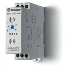 Модульный таймер мультифункциональный (AI, DI, SW, BE, CE, DE, WD); питание 24…240В АС/DC; 1CO 16A; ширина 22.5мм; регулировка времени 0.05с…10дней; степень защиты IP20; упаковка 5 шт.