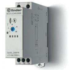 Модульный таймер 1-функциональный (DI); питание 24…240В АС/DC; 1CO 16A; ширина 22.5мм; регулировка времени 0.05с…10дней; степень защиты IP20; упаковка 5 шт.