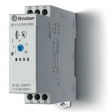 Модульный таймер 1-функциональный (BE); питание 24…240В АС/DC; 1CO 16A; ширина 22.5мм; регулировка времени 0.05с…10дней; степень защиты IP20; упаковка 1шт.