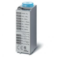 850200120000, Миниатюрный мультифункциональный таймер (AI, DI, SW, GI); монтаж в розетку; питание 12В АС/DC; 2CO 10A; регулировка времени 0.05с…100ч; степень защиты IP40; в комплекте металлическая клипса 094.81; упаковка 5 шт.