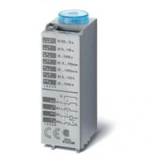 850300120000, Миниатюрный мультифункциональный таймер (AI, DI, SW, GI); монтаж в розетку; питание 12В АС/DC; 3CO 10A; регулировка времени 0.05с…100ч; степень защиты IP40; в комплекте металлическая клипса 094.81; упаковка 5 шт.