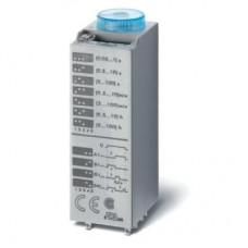 Миниатюрный мультифункциональный таймер (AI, DI, SW, GI); монтаж в розетку; питание 12В АС/DC; 4CO 7A; регулировка времени 0.05с…100ч; степень защиты IP40; в комплекте металлическая клипса 094.81; упаковка 1шт. ; упаковка 1 шт.