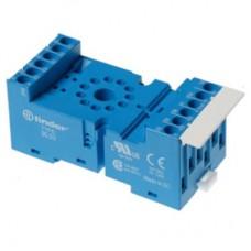 9002SMA, Розетка с винтовыми клеммами (с зажимной клетью) для реле 60.12, таймера 88.12; применяются модули 86.00, 86.30, 99.02; в комплекте металлическая клипса 090.33; версия: синий цвет; упаковка 10 шт.