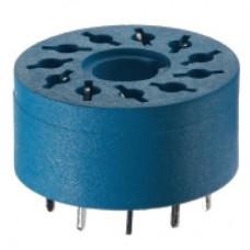 90151, Розетка для монтажа на плате для реле 60.13, таймера 88.02; диаметр 19мм; упаковка 50 шт.