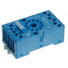 9021SMA, Розетка с винтовыми клеммами (с зажимной клетью) для реле 60.13, таймера 88.02; применяются модули 99.01; в комплекте металлическая клипса 090.33; версия: синий цвет; упаковка 10 шт.