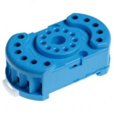 9022SMH, Розетка с винтовыми клеммами (с зажимной клетью) для реле 60.12, таймера 88.12; в комплекте металлическая клипса 090.33; версия: синий цвет ; упаковка 50шт. ; упаковка 50 шт.