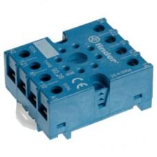 Розетка с винтовыми клеммами (под шайбу) для реле 60.13, таймера 88.02; в комплекте металлическая клипса 090.33; версия: синий цвет; упаковка 10 шт.