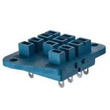 Розетка с винтовыми клеммами (под шайбу) для реле 62.31, 62.32, 62.33; в комплекте металлическая клипса 092.53; версия: синий цвет; упаковка 10 шт.