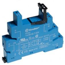 Розетка с винтовыми клеммами (с зажимной клетью) для реле 41 серии; питание 24В АС/DC; в комплекте пластиковая клипса; опции: LED; упаковка 10 шт.