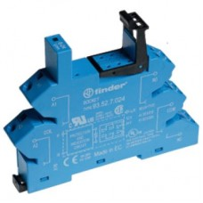 93527024, Розетка с безвинтовыми клеммами (пружинный зажим) для реле 41 серии; питание 24В DC; в комплекте пластиковая клипса; опции: LED; упаковка 10 шт.