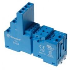 Розетка с винтовыми клеммами (с зажимной клетью) для реле 55.33, таймера 85.03; применяются модули 86.00, 99.02; в комплекте металлическая клипса 094.71; версия: синий цвет; упаковка 10 шт.