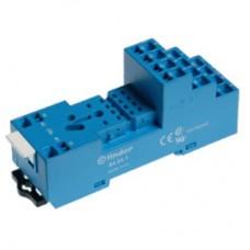 Розетка с винтовыми клеммами (с зажимной клетью) для реле 55.32, 55.34, таймера 85.02, 85.04; в комплекте металлическая клипса 094.51; версия: синий цвет; упаковка 10 шт.