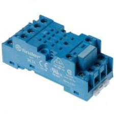 Розетка с винтовыми клеммами (под шайбу) для реле 55.32; таймера 85.02; применяются модули 99.01; мет. клипса 094.71; версия: синий цвет; 9474SMA