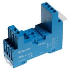 94842SPA, Розетка с винтовыми клеммами (с зажимной клетью) для реле 55.32, 55.34, таймера 85.02, 85.04; применяются модули 99.80; в комплекте пластиковая клипса 094.80.2; версия: синий цвет; упаковка 10 шт.