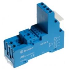 Розетка с винтовыми клеммами (с зажимной клетью) для реле 55.32, 55.34, таймера 85.02, 85.04; применяются модули 99.80; в комплекте металлическая клипса 094.71; версия: синий цвет; упаковка 10 шт.