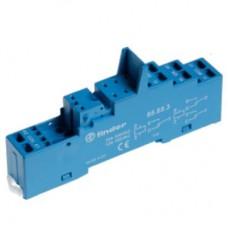 95553SPA, Розетка с безвинтовыми клеммами (пружинный зажим) для реле 40.51, 40.52, 40.61, 44.52, 44.62; применяются модули 99.80; в комплекте пластиковая клипса 095.91.3; версия: синий цвет; упаковка 10 шт.