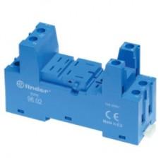 Розетка с винтовыми клеммами (с зажимной клетью) для реле 56.34; применяются модули 86.00, 86.30, 99.02; в комплекте металлическая клипса 096.71; версия: синий цвет; упаковка 10 шт.
